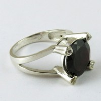 Today Deal's Hurry Up !! Red Garnet Jewelry in Silver 925 Ring