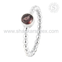 Charming Red Garnet 925 Sterling Silver Jewelry Ring Manufacture Indain Silver Jewelry Wholesale