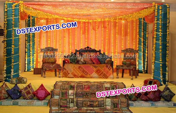 Muslim Mehndi Stage Set/ Pakistani Wedding Mehndi Decoration/ wedding Stage Decoration