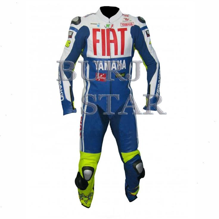 Motorbike Fiat Leather Suit , Full Safety Motorcycle Racing Suit
