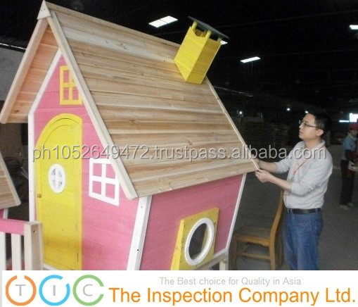 During Production Inspection for Russian Wood Houses in China