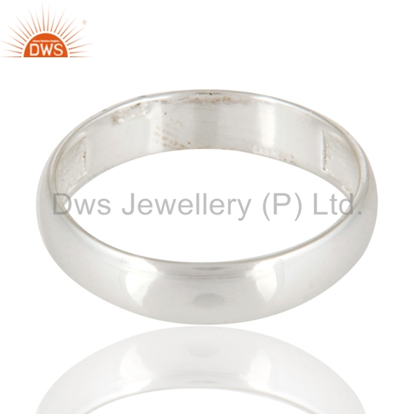 Handmade 925 Sterling Silver Simpal Look Engagement Band Ring Jewelry Manufacturer & Supplier