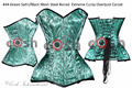 16 Full Steel Boned Heavy Lacing Green Satin Black Mesh Steel Boned Extreme Curvy Overbust Corset Supplier and Manufacturer