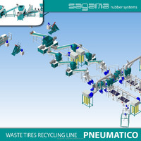 Patented Russian SAGAMA Pneumatico waste tire shredder equipment prices