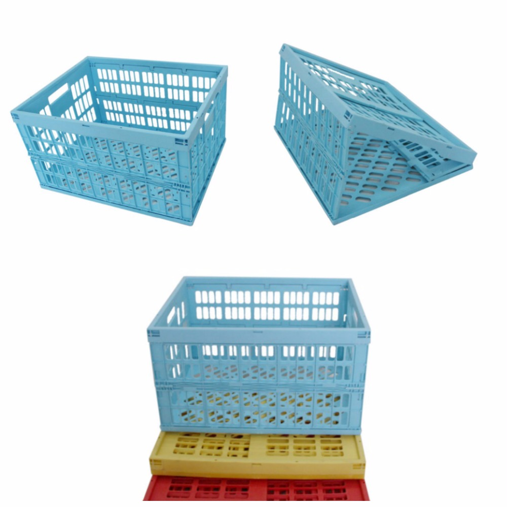 Cheapest plastic folding baskets for fruit and vegetable Plastic folding baskets