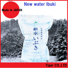 Easy to drink mild taste natural spring water available in plastic bottle and pouch