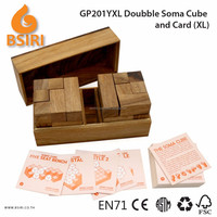 Doubble Soma Build and Card Wooden Brain Teaser Games