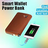 Anti-lost smart wallet vintage animal leather wallet Automatic alarm wallet