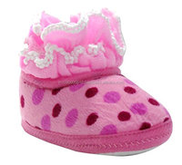 Fancy girls Pink baby booties