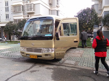 Used TOYOTA coaster high quality bus with cheap price for sale
