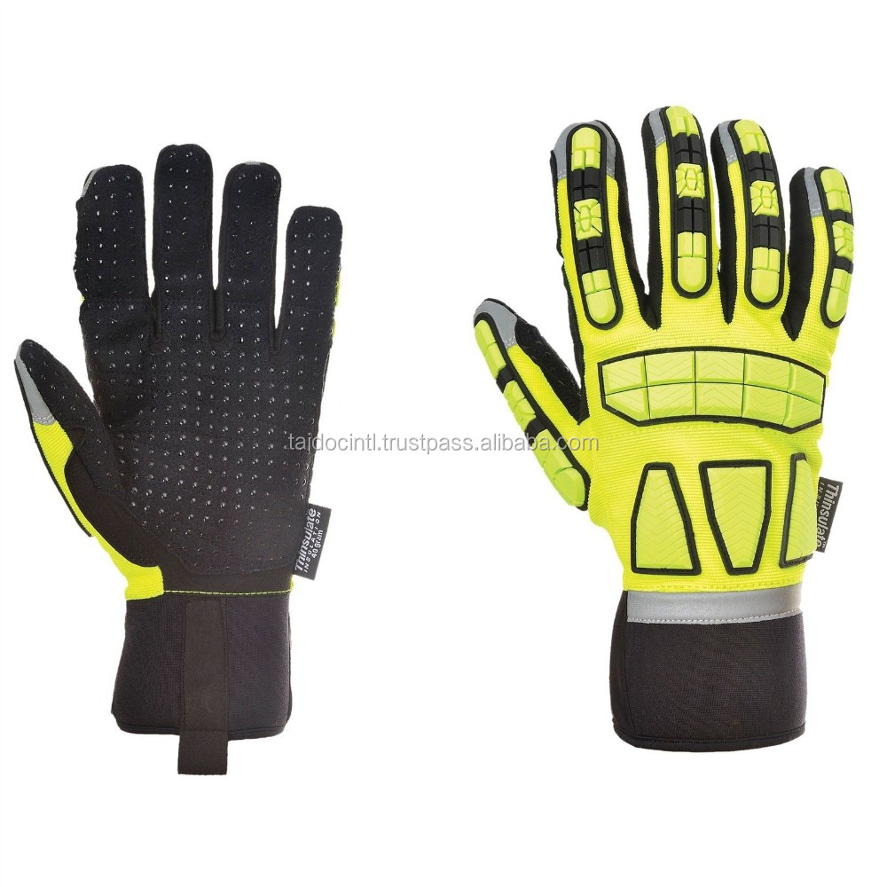 Safety Impact Gloves Oil & Water Resistant Lined Safety Workwear / Work Gloves/Best quality bu taidoc