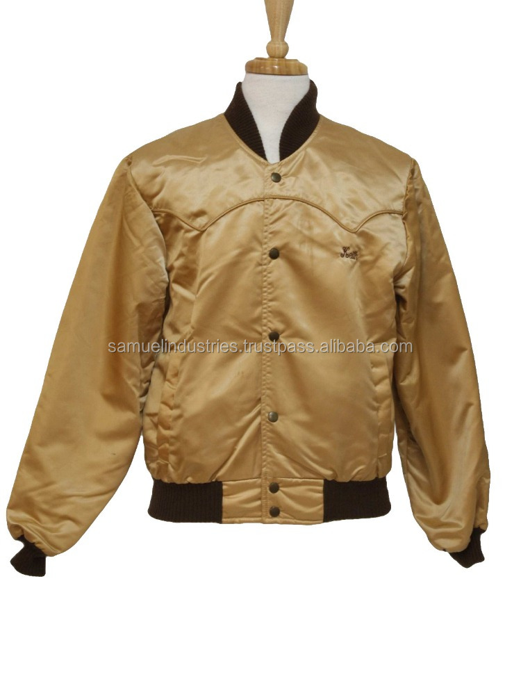 famous brand club sofball satin shiny nylon coach varsity baseball retro Letterman American USA college youth jacket