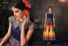 INDIAN PAKISTANI DESIGNER BLUE WHOLESALE PRINTED SUMMER SEASON WOMAN DRESS/SALWAR KAMEEZ