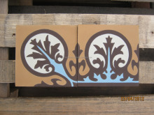 Handmade cement tile border and corner - CTS Factory