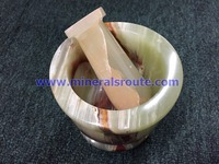 Onyx Marble Mortar and Pestle