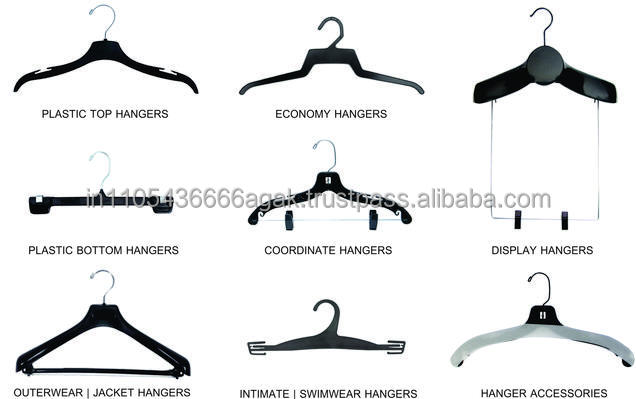 Transparent white or customized Plastic Clothes Hangers For clothes or Garments