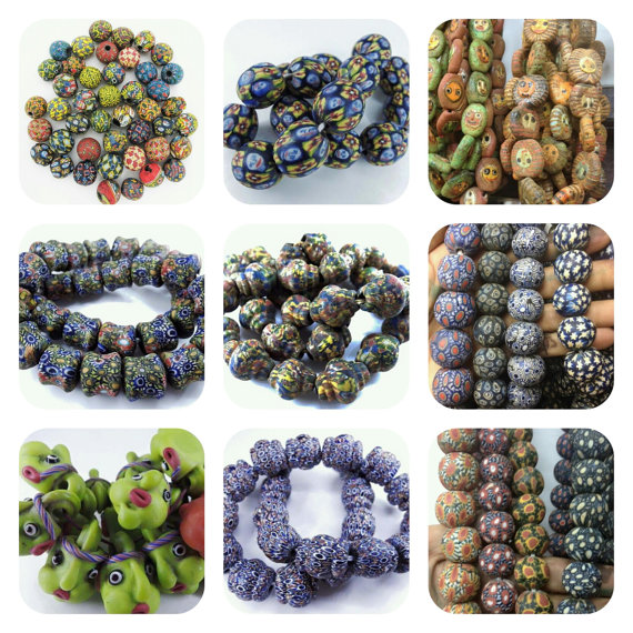 Mosaic beads carpet beads viking beads