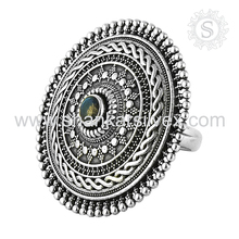 Natural Wholesale Silver Jewelry Labradorite Supplier Ring 925 Sterling Silver Ring Indian Jewelry