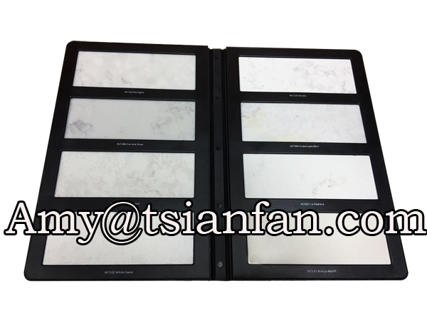 Plastic Quartz Stone Binder Stone Sample Book Quartz Stone Plastic Folder