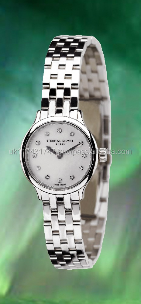 ETERNAL brand, Premium Quality Argentium 960 Silver Watch