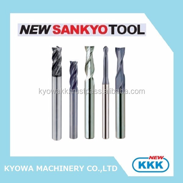 Durable cemented carbide end mill CNC cutting tool for high velocity machining