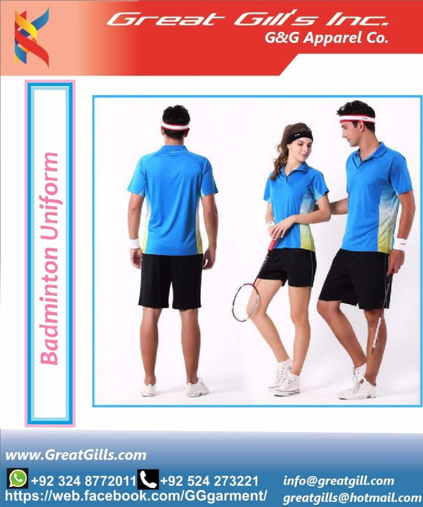 unisex sublimated table tennis jersey, wholesale cheap tennis shirts, tennis / badminton uniform design