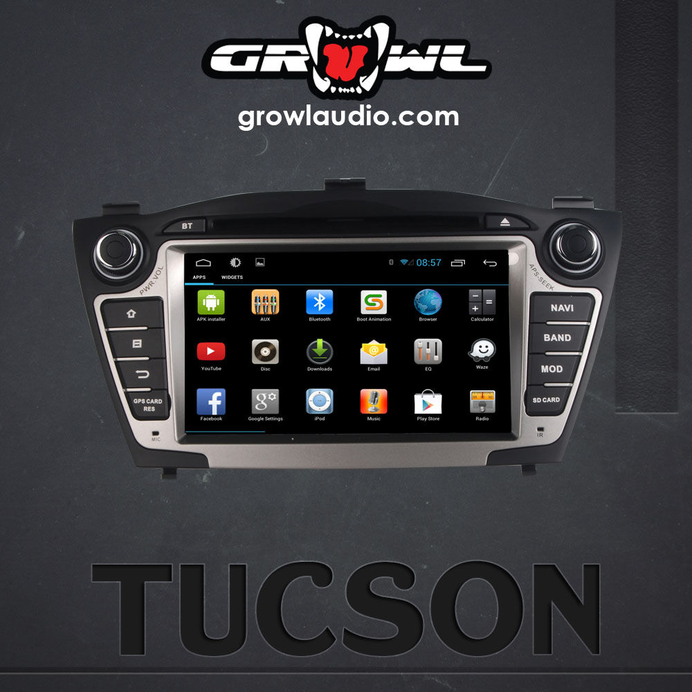 "OEM ANDROID HEAD UNIT 8"" CAPACITIVE TOUCH FIT FOR HYUNDAI TUCSON 2009-2013"