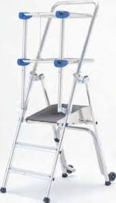 CATU MP-700-6 Folding stepladder with railing