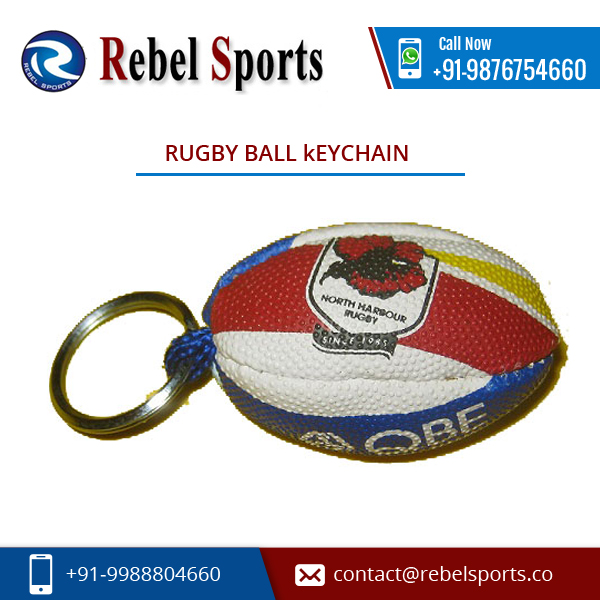 Compact Design Rugby Ball Keychain Price for Wholesale Buyer