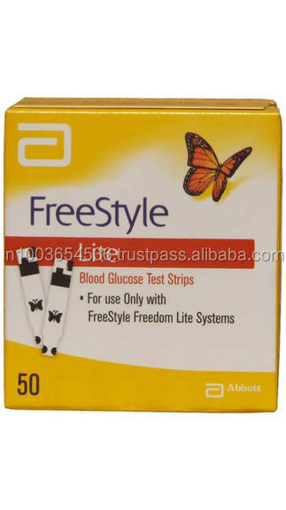 Freestyle Lite Blood Glucose Test Strips - 50 Strips