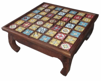 Rise only ceramic tile fitted coffee tables Indian furniture manufacturer exporters