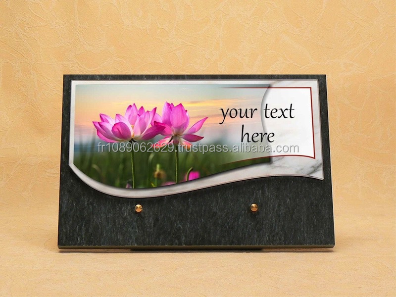 Funerary plaque made in France top quality