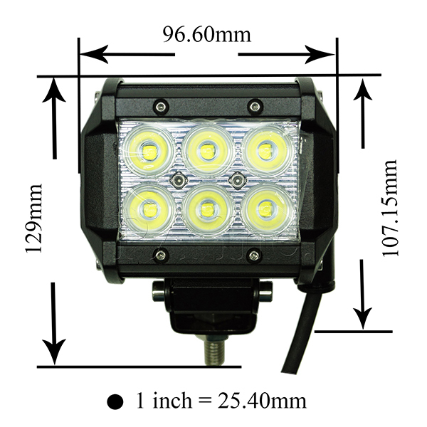 4INCH 18W Headlight Square Spot LED Work Light Bar Off Road TRUCK Jeep 4WD Vehicle Driving Lamp