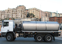 Water Tank Truck. Stainless Steel. Potable Water. Germany