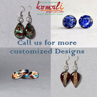 Lamp-working & Flame-working Murano Style Handmade Glass Earrings & Jewellery