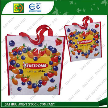 High quality grocery PP woven bag for shopping