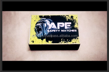 Ape Safety Matches with Gorilla Artwork for Ghana Market