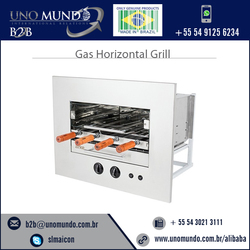 power saving easy to use gas horizontal grill with 4 skewers