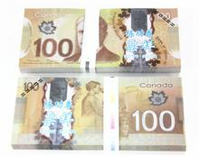 CAD100 for Movie props and Education/bank staff training paper/fake money/copy money/gife, Canada Dollars