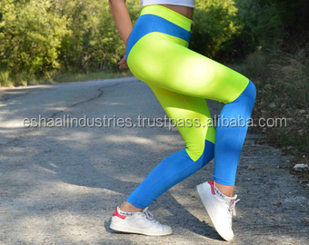 Handmade Orange - White Leggings Athletic Bottoms Gym Clothes Stretch Leggings Spandex Fabric Sexy Leggings Yoga