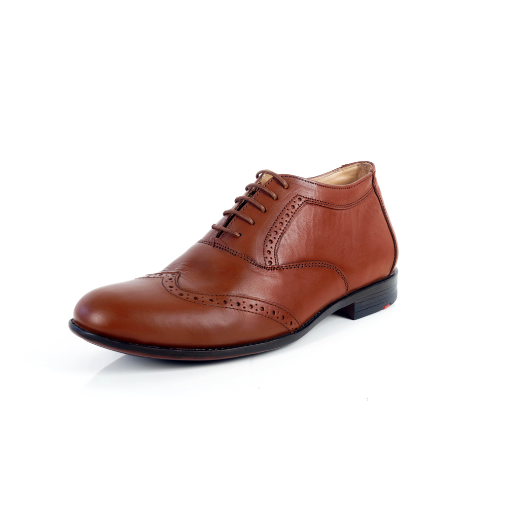 Tan Brown Men's Formal Leather Shoes