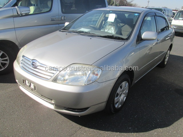 USED CAR PRICES JAPAN FOR SALE FOR TOYOTA COROLLA 4D X LTD NZE121 AT 2003 IN GOOD CONDITION