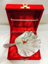 Silver Bowl and Spoon Set Perfect Gift Item Indian Handicraft/Fancy and Beautiful Silver Handicrafts