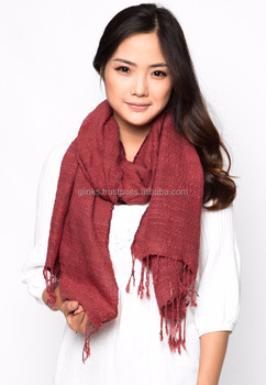 Direct Factory Wholesale Fashion Women Linen Scarf from Vietnam Manufacture