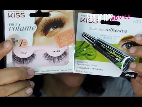 "Kiss True Volume ""Posh"" Lashes & Aloe Glue TIPS + REVIEW & DEMO"