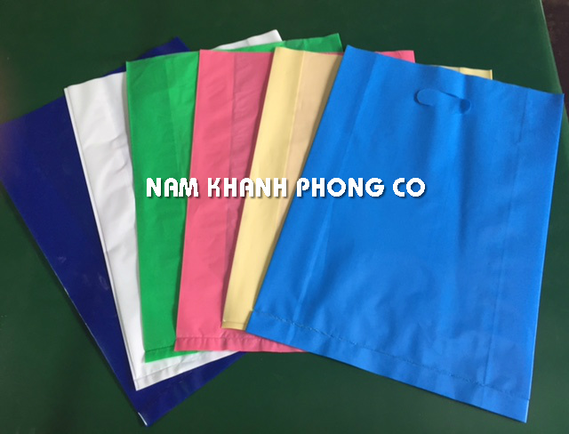 Customized LDPE die cut plastic bag for shopping packaging in Vietnam