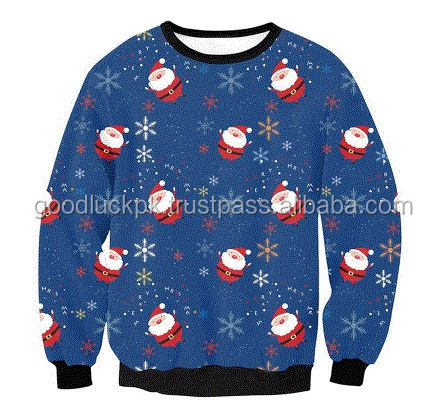 wholesale Christmas sweatshirts -Hot Selling Christmas Deer Print Fleece sweatshirt