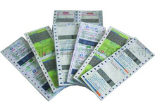 Customized sizes pin mailer with high quality paper for bank ATM pin code