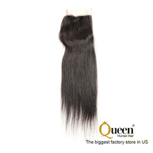 "4x4 Free Part 16"" Virgin Remy Human Hair Silky Straight 1 bundle Lace Closure"