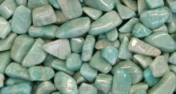Amazonite semi precious Tumbled Stone for healing, meditation and decoration